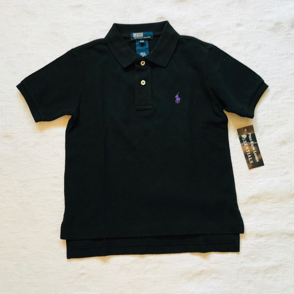 d1f631c7a POLO By Ralph Lauren  Black Polo T-Shirt Age 4. NWT